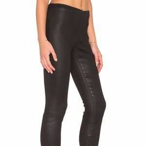 PAM & GELA Black Faux Leather Pants Size P